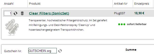 SonicShop-gutscheineinloesen