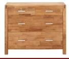 Ein Produktbeispiel von kauf-unique.de: Kommode Holz massiv Brocelande II - Eiche geölt