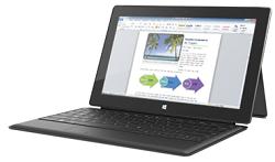 Produktbeispiel von Microsoft: Surface Pro