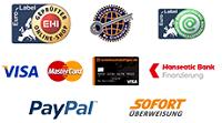 Zertifikate und Zahlungsmöglichkeiten