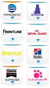 Einige der Marken bei Petmeds