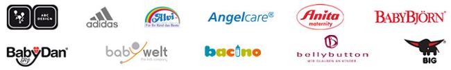 Nur einige der vielen Marken bei Baby-Walz