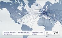 Das Streckennetz von Lufthansa
