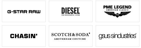 Einige der Marken für Herrenprodukte bei Jeansonline