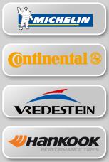 Einige der vielen Marken bei reifen.com