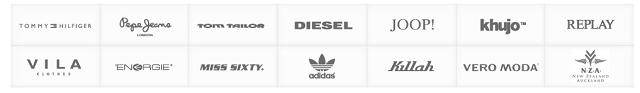 Einige der vielen Marken bei dress-for-less.de