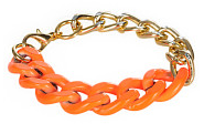 Ein Produktbeispiel von kolibrishop.com: mint Neon Chain Armband gold neon orange